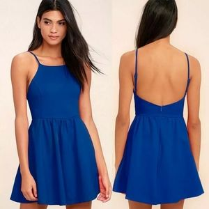 Royal Blue Sleeveless Mini Dress